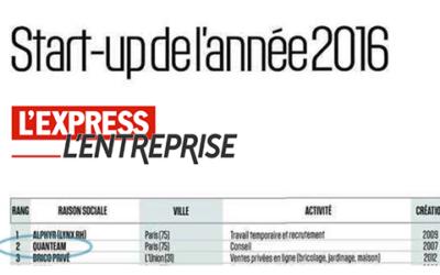 Quanteam sacré 2e startup française en 2016 !