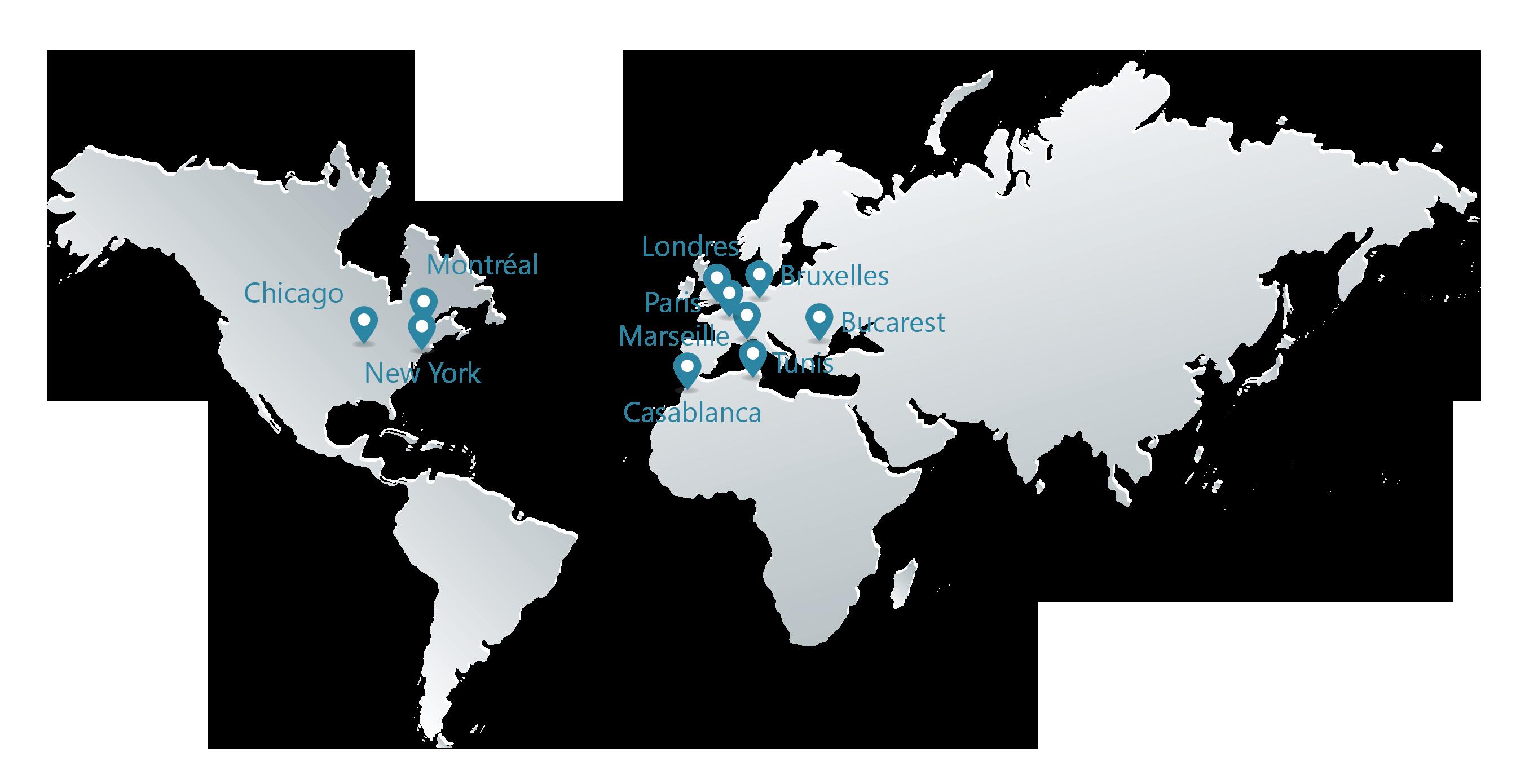 Presence internationale Groupe Quanteam